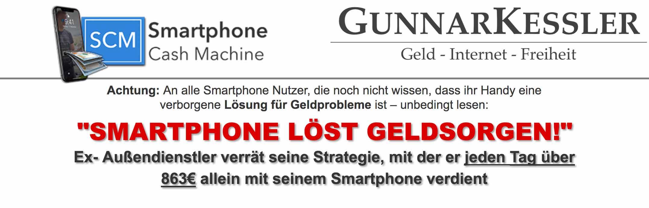 Gunnar Kessler Smartphone Cash Machine