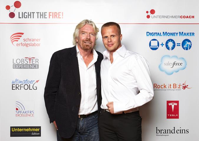 Gunnar Kessler und Richard Branson